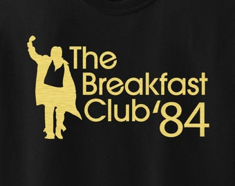 The Breakfast Club '84 t-shirt - design in gold or white