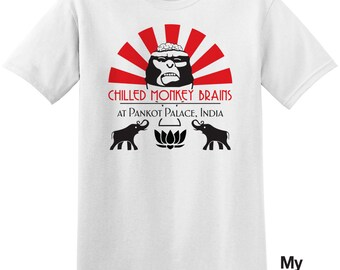 Chilled Monkey Brains T-Shirt - Inspired by Indiana Jones and the Temple of Doom (1984)