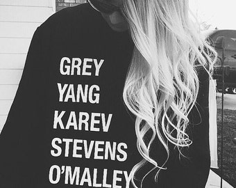 Grey Yang Karev Stevens O'Malley Christina and Meredith It's a beautiful day to save lives anatomy youre my person gift tv show characters