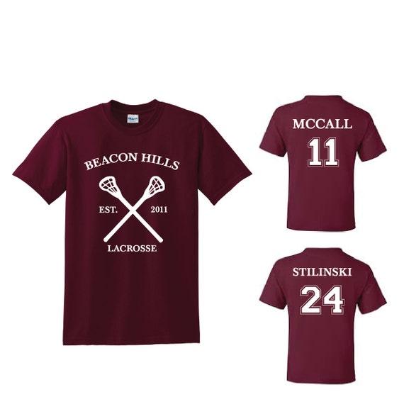 9728dcd1116a Teen Wolf Beacon Hills Lacrosse T-shirt Sports Scott McCall 11