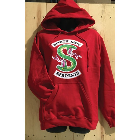 Riverdale South Side Serpents Cheryl Red Unisex Hooded Sweatshirt Jughead Jones Serpents Snake Snakes Hoodie Cheryl Blossom
