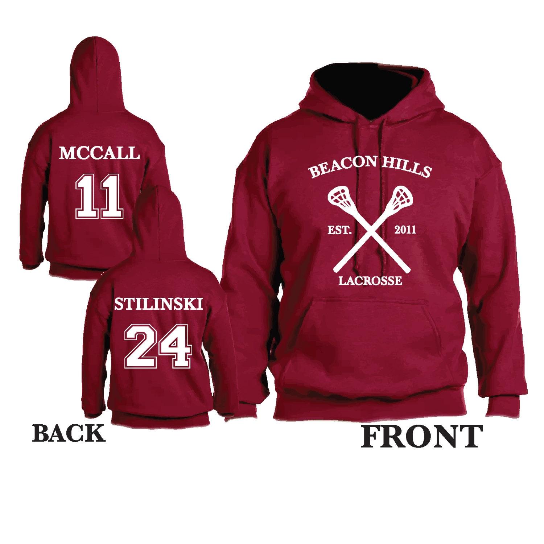 Teen Wolf Beacon Hills Lacrosse Hooded Sweatshirt Sports ...