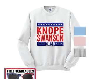 Knope Swanson 2020 campaign sweatshirt crewneck crew Parks and Recreation Ludgate Pawnee rat li'l sebastian Leslie Mouse Dwyer Rec