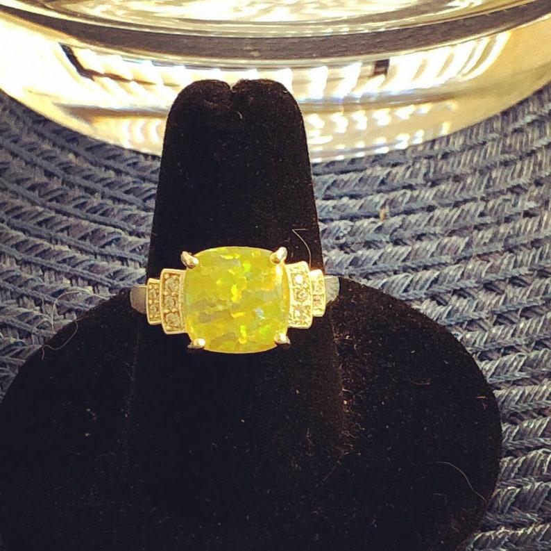 Princess Opal Topaz Ring
