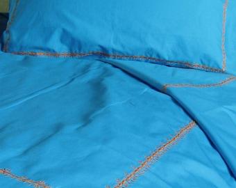 Blue Pasha Single Duvet Set