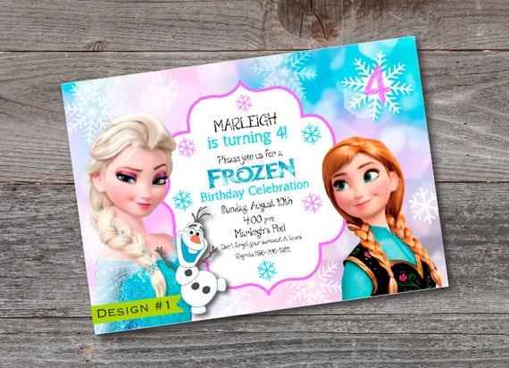 picture regarding Printable Frozen Birthday Invitations identify Frozen Birthday Invitation -PRINTABLE -Elsa Ana -Personalized -Ana -Elsa -Woman Birthday -Frozen -Olaf -Frozen Birthday -Frozen Invitation