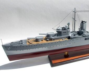 "HMAS Sydney II Cruiser - Handcrafted War Ship Display Model 39"""