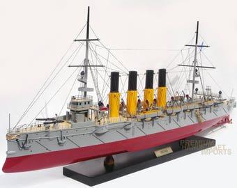 Varyag Cruiser Handcrafted Russian War Ship Display Model
