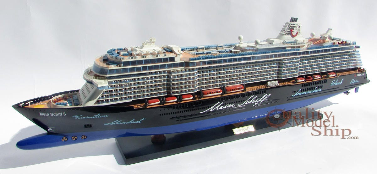 mein schiff 5 tui cruises ship handmade wooden ship model. Black Bedroom Furniture Sets. Home Design Ideas