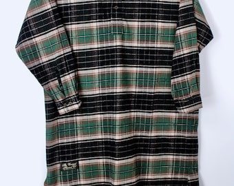 The Vermont Flannel Company Long Nightshirt Unisex One Size Green Plaid  European Fabric Thick Soft Warm Excellent Condition 51b3b80ae
