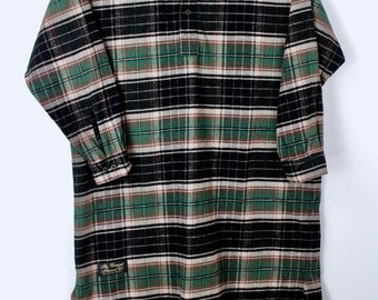 The Vermont Flannel Company Long Nightshirt Unisex One Size Green Plaid  European Fabric Thick Soft Warm Excellent Condition 9c63807fb