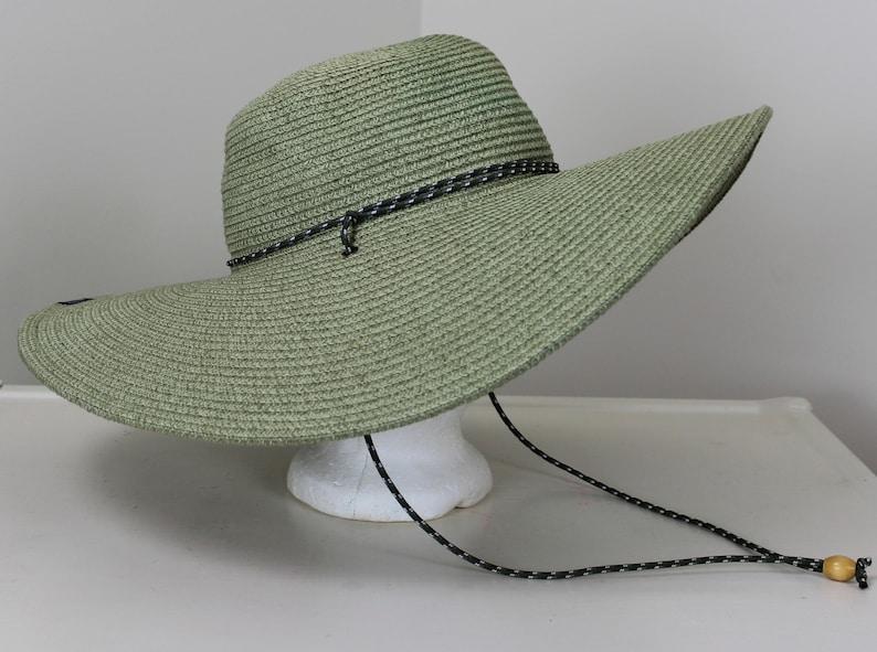 67269e3cb Columbia Wide Brim Straw Hat One Size Green Beach Gardening