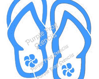 d1ef725ef Flip Flop STENCIL (Reusable) Different Sizes Reg and Commercial Grade  Thickness