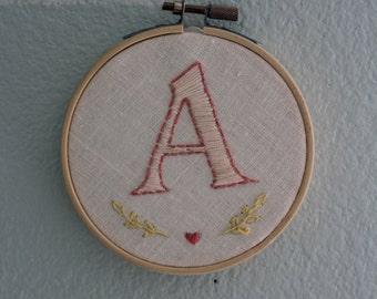 Custom Monogram Letter Embroidery
