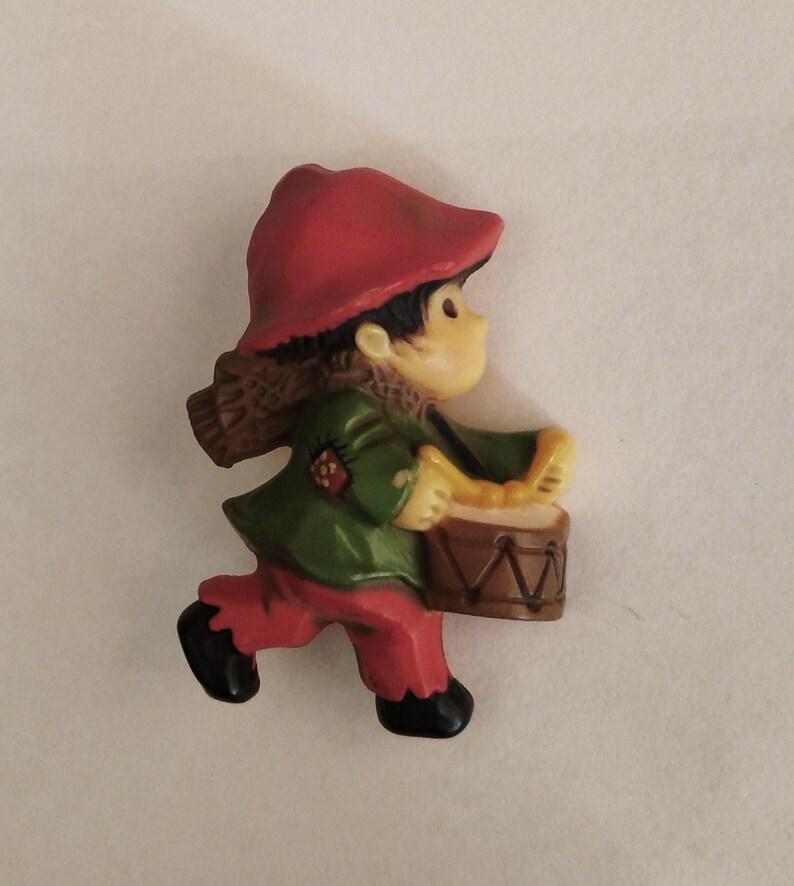 ae41c20778b9b Hallmark Little Drummer Boy Pin 1970s Christmas Holiday Resin