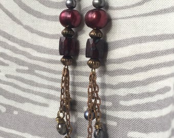 Handmade Pearl and Czech glass Earring