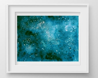 Universe painting Original Watercolor, Sky Painting, Wall art decor, Infinity Painting, Cosmos Painting, Universe Watercolor, Space Painting
