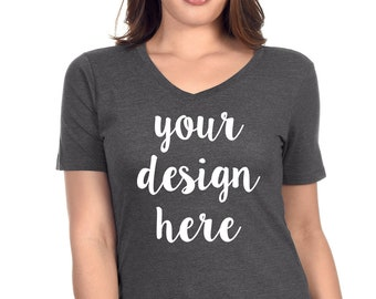 d0a54791bcf custom tshirt v-neck women. personalized this premium women s V-neck shirt  with your deisgn or business logo for any events