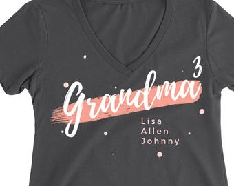 grandma shirt with names personalized gift for grandma shirts with grandkids names nana shirt for nana gift for nana shirt for mothers day