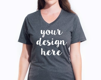 1c99de5aaa custom shirt v-neck women Custom V-neck women custom v neck shirt custom  shirts women personalized shirt photo shirt family reunion shirt