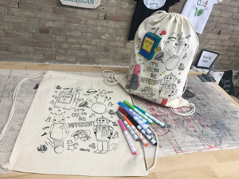 Coloring kit backpack unique gift for kids