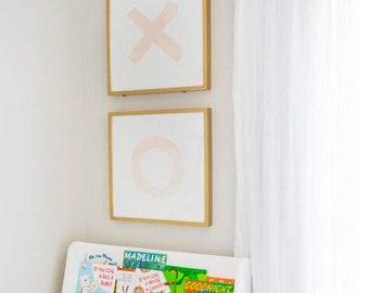 Blush Pink XO Watercolor Print   Girls Nursery Art   Nursery Art