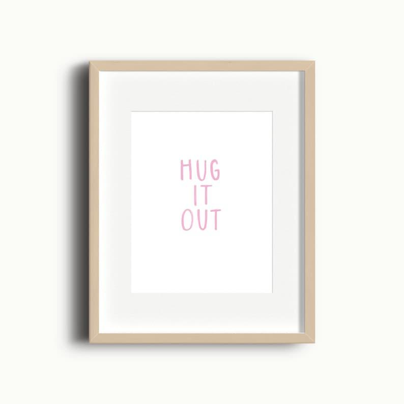 Hug It Out Playroom Art Print  Kids Gallery Wall  Playroom image 0