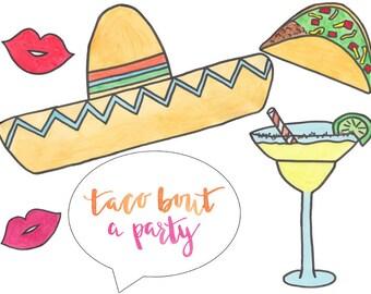 17 Cinco de Mayo Props for your Cinco de Mayo Party or Photobooth