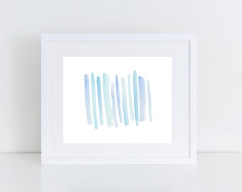 Blue Abstract Ombre Watercolor Printable | Abstract Watercolor Print | Blue Watercolor Print | Nursery Art | Abstract Gallery Wall Art