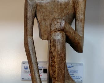 Wooden Man Statue S#2
