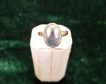 Vintage Abalone Sterling Silver Ring Size 9 5.1g AFSP