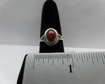Vintage Sterling Silver Mahogany Obsidian Ring / FEM