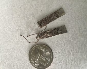 Custom Made Sterling Silver Reticulated Earrings - AB