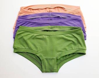 e67148997c564c Women's Organic Underwear Organic Cotton Underwear Women's BOYSHORT  Underwear Handmade Lingerie Soft Panties Eco-Dyed Underwear Gift Set