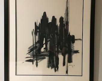 Modernist Abstract Painting by Artist John Klinkenberg