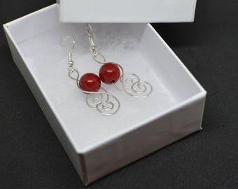 Red Wire Earrings