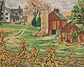 D-mary57 - Counted Cross Stitch Kit, Candamar Designs Inc,#50858 UNOPENED Fall House, FREE ship USA