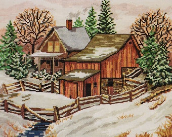 D-mary55 - Counted Cross Stitch Kit, Candamar Designs Inc, #50859 UNOPENED Winter Scene, FREE ship USA