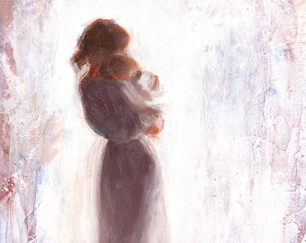 Mother And Child Art Etsy