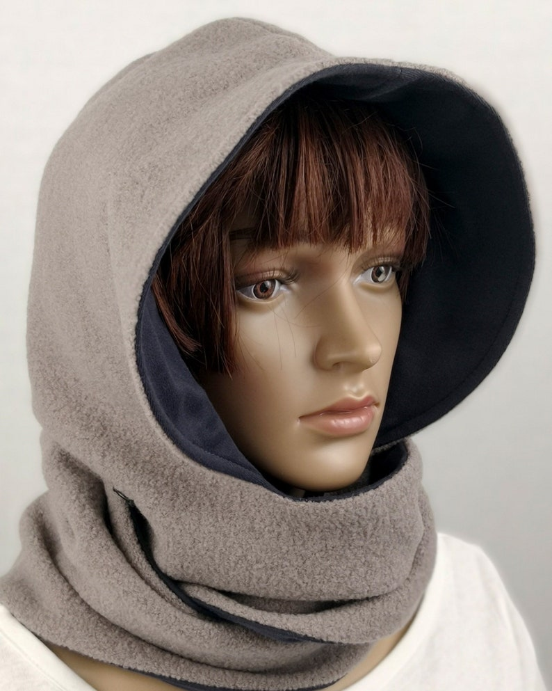 Creamy hooded scarf Olivia for women image 0