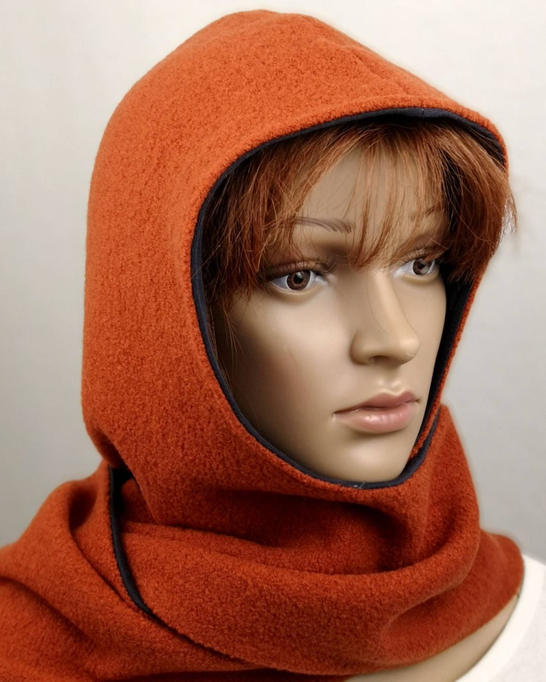 Hooded scarf Oliver with snaps for men and women image 0