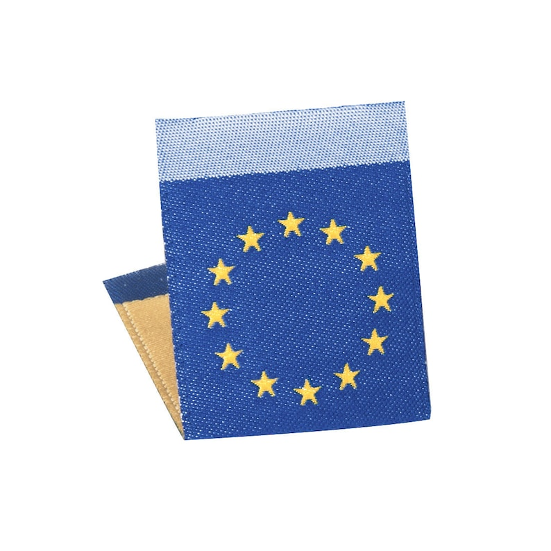 c0af087e8306 Wunderlabel European Europe EU Flag Crafting Craft Woven Ribbon Tag  Clothing Sewing Sew On Clothes Garment Fabric Apparel Label Labels Tags