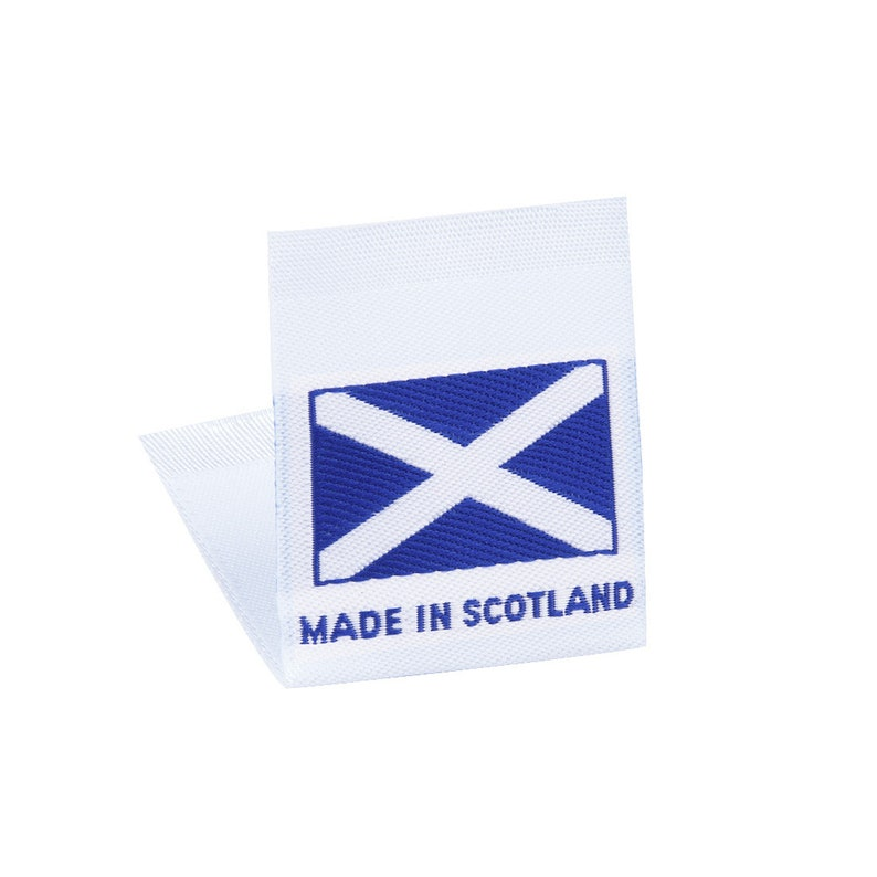 83e185c9191a Wunderlabel Made in Scotland Flag Scottish Woven Label Tag Damask Craft  Ribbon Tag Clothing Sewing Sew On DIY Fabric Clothes Garment Apparel
