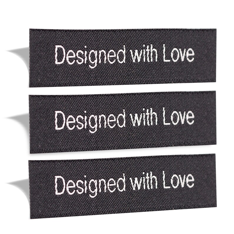 d07532f36f54 Wunderlabel Designed With Love Woven Sew On Label Tags Cute Crafts Art  Fashion Scrapbook DIY Ribbon Fabric Clothing Sewing Clothes Garment
