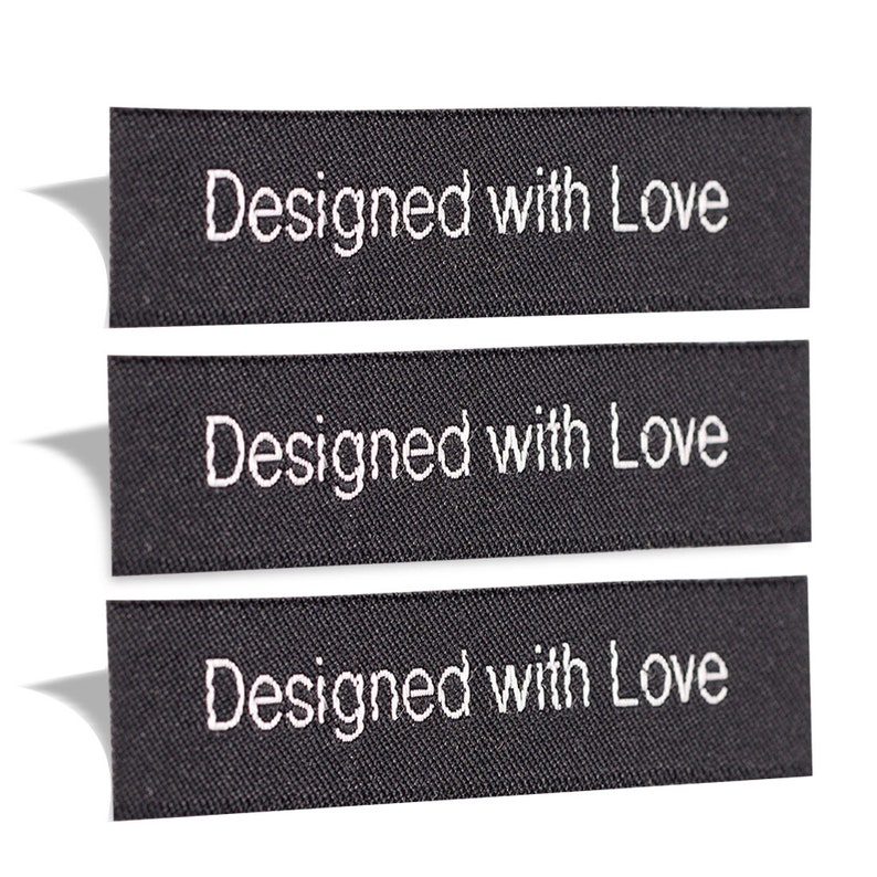 07991cfe8c84 Wunderlabel Designed With Love Woven Sew On Label Tags Cute Crafts Art  Fashion Scrapbook DIY Ribbon Fabric Clothing Sewing Clothes Garment