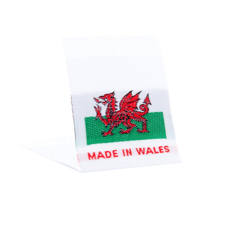 0957b6f1d5fd Wunderlabel Made in Wales Welsh Flag Sew On Woven Labels Tags Fabric Craft  Fashion Small Ribbons Clothing Sewing DIY Clothes Garment Apparel