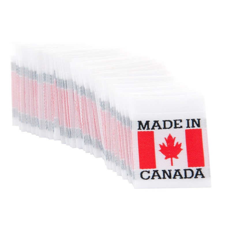 6ab6c3dcb878 Wunderlabel Canadian Flag Crafting Art Fashion Classic Woven Ribbons  Clothing Sewing Clothes Garment Fabric Material Embroidered Labels Tags