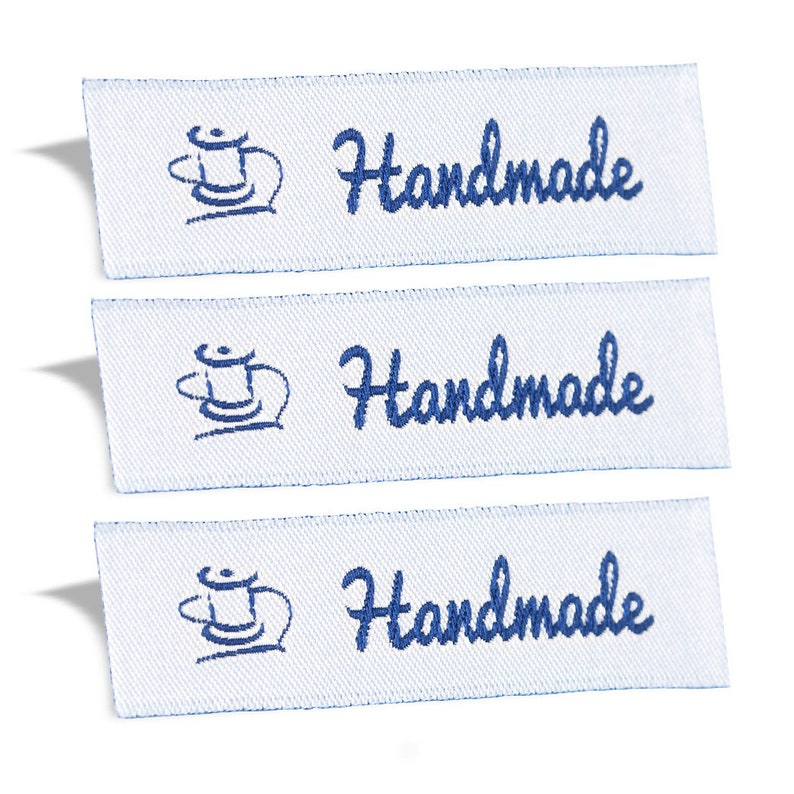 6abcfac7fc8c Wunderlabel Handmade Label Tags Craft Art Fashion Woven Ribbon DIY Clothing  Sewing Sew on Clothes Garment Fabric Material Appliques Apparel
