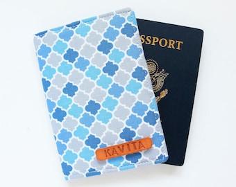 Employee Gift Personalized passport Cover, Sky Blue Passport Holder - SKPC27