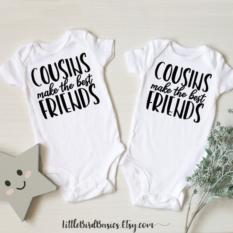 Cousins make the best friends baby announcement onesies family reunion cousin baby onesie cousin pregnancy announcement onesie cousin set